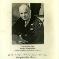 Thank you photograph from General Dwight D. Eisenhower, 1945