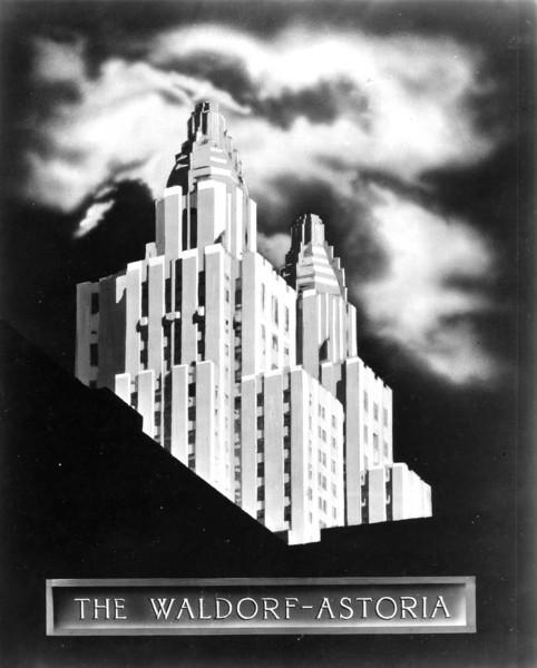 Waldorf=Astoria Art Deco Poster<br />