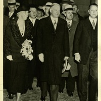 President Herbert Hoover and Mrs. Lou Henry Hoover at the Waldorf, 1933