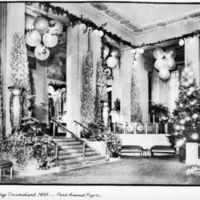 """Holiday Decorations 1935...Park Avenue Foyer"""